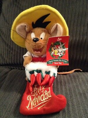 Warner Bros. Speedy Gonzales Feliz Navidad Bean Bag STOCKING WARNER BROS STUDIO
