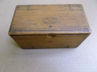 Antique 1889 Singer Wooden Folding Sewing Attachment box