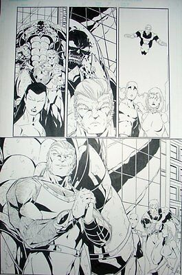 Exiles Original Art by Jim Calafiore Issue 61 Page 7 BLINK & Sabretooth
