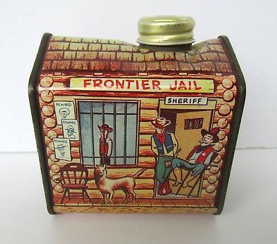 Vintage Towle's Log Cabin Syrup Frontier Jail Tin