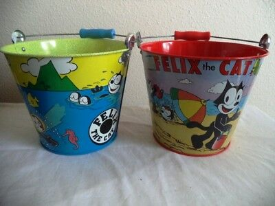 Felix the Cat On the Beach and In the Ice Ocean Pails Schylling