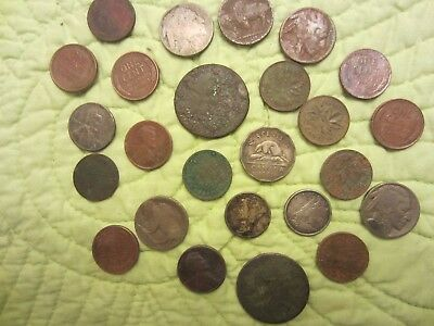 coin lot found with a metal detector