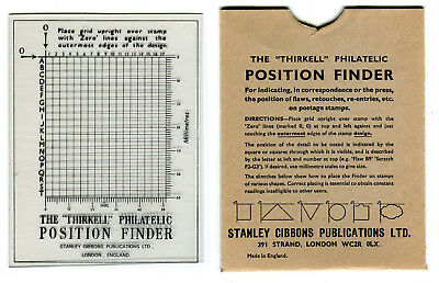 Thirkell Philatelic Position Finder by Stanley Gibbons, retail $12+ / £6.95