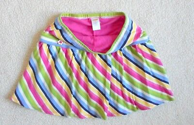 Gymboree Girls Size 10 Skirt Striped With Built-In Shorts Hardly Worn Excellent