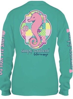 New S Simply Southern Sea Unicorn Believe In Magic Small T Shirt Long Sleeve