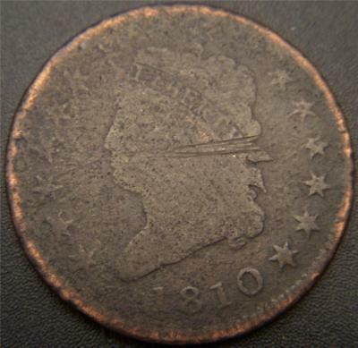 1810 Large Cent - Full Readable LIBERTY - Major Details Are Outlined