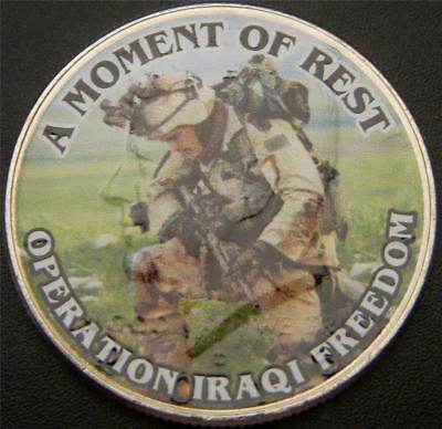 A Moment of Rest Iraq War Commemorative Colorized JFK Half Dollar
