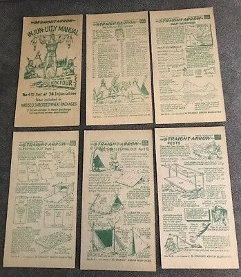 1950's Vintage Nabisco INJUN-UITY Manual, NEAR COMPLETE SET,GREAT CONDITION!!
