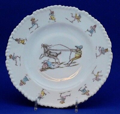Palmer Cox Brownies Plate Gold Trim Detailed Edging