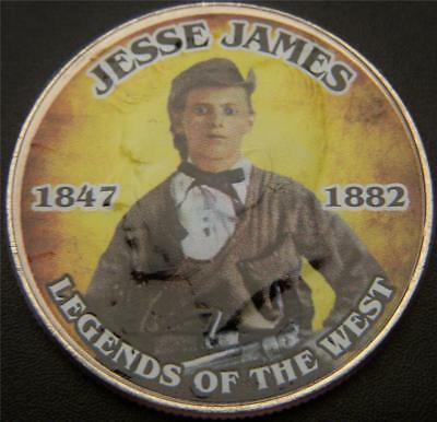 Jesse James Legends of the West Commemorative Colorized JFK Half Dollar