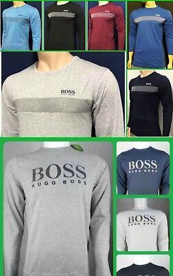 Hugo Boss Men's T-Shirts Long Sleeve Crew Neck Regular Fit Fast Shipping Rrp £75