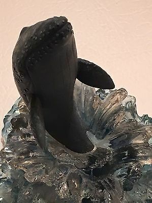 """WYLAND """"California Gray Whale"""" SCULPTURE by DAKIN #236 EXCELLENT CONDITION 2000"""