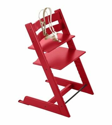 NIB Stokke Tripp Trapp Wooden High Chair Red