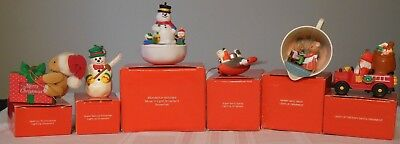 Vintage Avon Christmas Ornaments Assorted Light-up set of 6 in Original Boxes