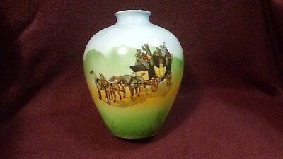 Schwarzburg German Art Deco Hand Painted Porcelain Vase