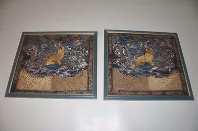 Pair of Antique Chinese Qing Dynasty Rank Badges