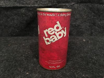 Vintage Red Baby Soda Pop Can great for and Collector Collection
