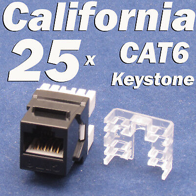 5 lot Keystone Jack Cat6 Red Network Ethernet 110 Punchdown 8P8C RJ45