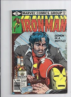 Marvel  Iron Man #128  Demon in a Bottle Story Alcoholism cover!