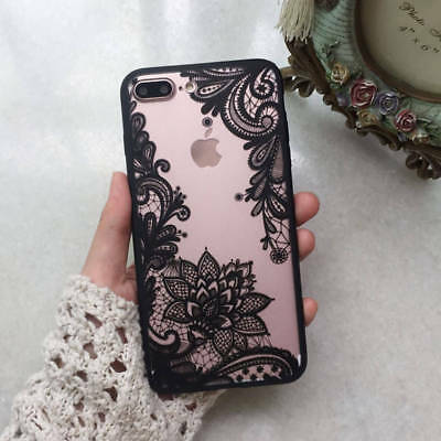 Wedding Lace mandala henna soft tpu silicone phone case cover iPhone 8 7 6S PLUS