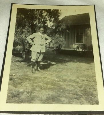 Vintage Old 1940's Photo African American Black Man Nice Outfit Knickers Clothes