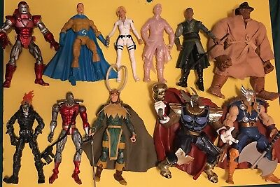 Huge Lot Of 11 MARVEL LEGENDS Figures! Ghost Rider Thor Iron Man Loki The Thing