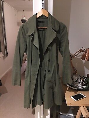 Bassike Green Trench Coat 2