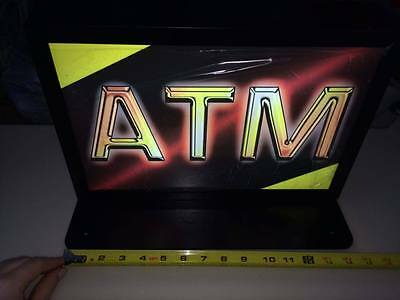 Atm  Lighted Sign  Topper ! Brand New! Heavy Duty!new In Box!free Ship!