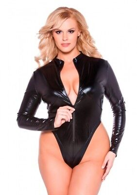 Allure Kitten Collection NAUGHTY KITTEN BODYSUIT XLXXL BLCK body 32353220254