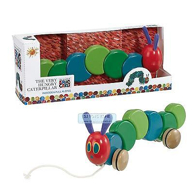 The Very Hungry Caterpillar Toddler Wooden Pull Along Learning Toy For Kids