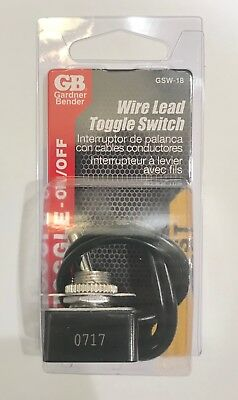 Toggle Switch Wire Lead Gardner Bender GSW-18   New 5-PACK -bid is for 5 Toggles