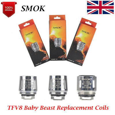 5 pcs Authentic SMOK TFV8 Baby Beast Replacement Coils V8-T8/Q2/X4 UK