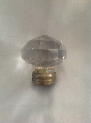 Nice large and heavy depression Glass door knob , 19th