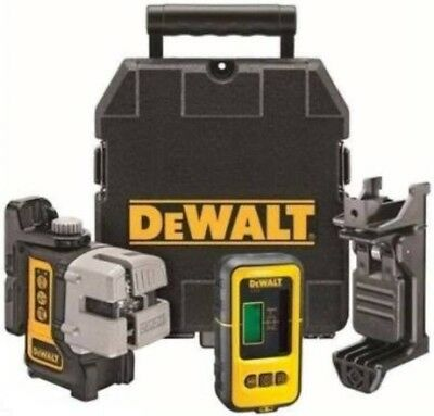 24hr Sale Price Only Dewalt Red Beam Twin Cross line Laser Level With Detector