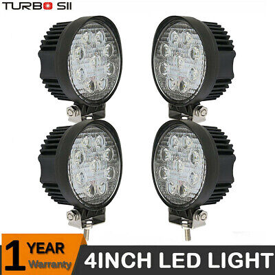 4x 18W Cree Led Work Lights Pods Spot Offroad Lamp For ATV JEEP UTE 4'' Cube