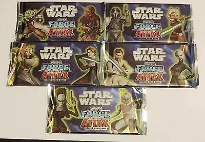 Star Wars Force Attax Series 2 Set of 5 Sealed Packs Trading Card Game Pack
