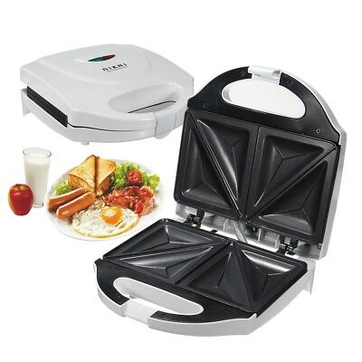 Sandwich Press Maker Non Stick Grill Toaster Gourmet Snack Bread Toasted 2Slices