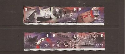 Iom 2012 Titanic Mnh Set Of Stamps
