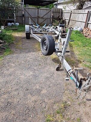 Booker  Braked Boat Trailer Suit Up To 18Ft  Vessel - Fully Rollered