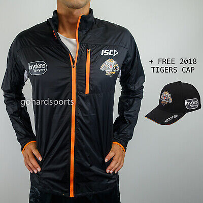 Wests Tigers 2017 Black Running Jacket: Sizes S - XL