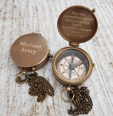 compass, engraved compass, personalized compass, working compass