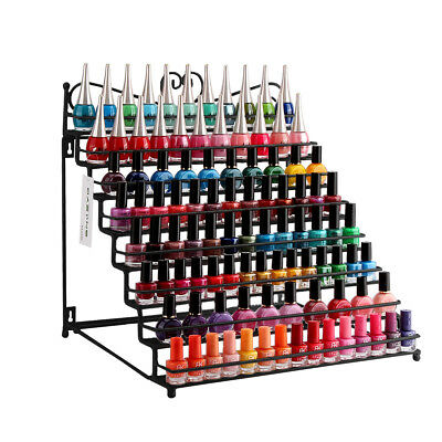 8 Tiers White Metal Nail Polish Rack Display Table Shelf Hold To 128 Bottles US
