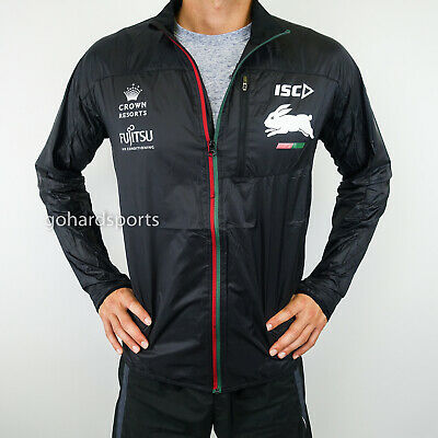 South Sydney Rabbitohs 2017 Black Running Jacket: Sizes S - 2XL