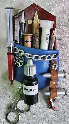 Hunter Slayer Supernatural Monster Steampunk Kit Embellishment Blu Leather Borax