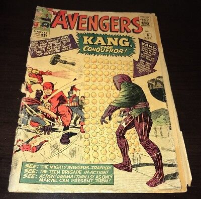 Avengers #8 1st Kang the Conqueror Marvel 1964 Silver Age KEY Comic
