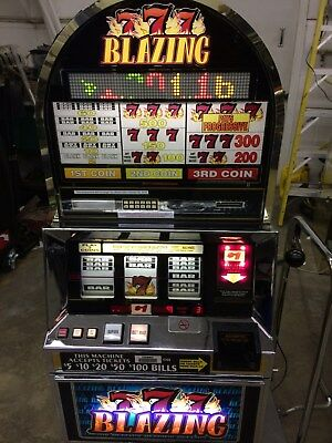 BALLY 6000 RT BLAZING 7's PROGRESSIVE SLOT MACHINE