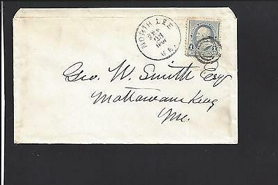 """North Lee, Maine Cover, 1891 #219 Target Cl, """"rare Town Cl Sr/8"""""""