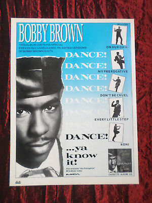 Bobby Brown - Magazine Clipping / Cutting- 1 Page Advert - #2