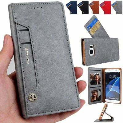 Luxury Card Slot Stand Flip Leather Wallet Case Cover For Samsung S7 Edge S8 +