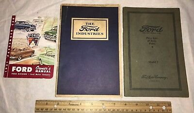 Antique Ford Motor 1925 Model T Price 1926 Industry Book 1951 Car Owners Manual